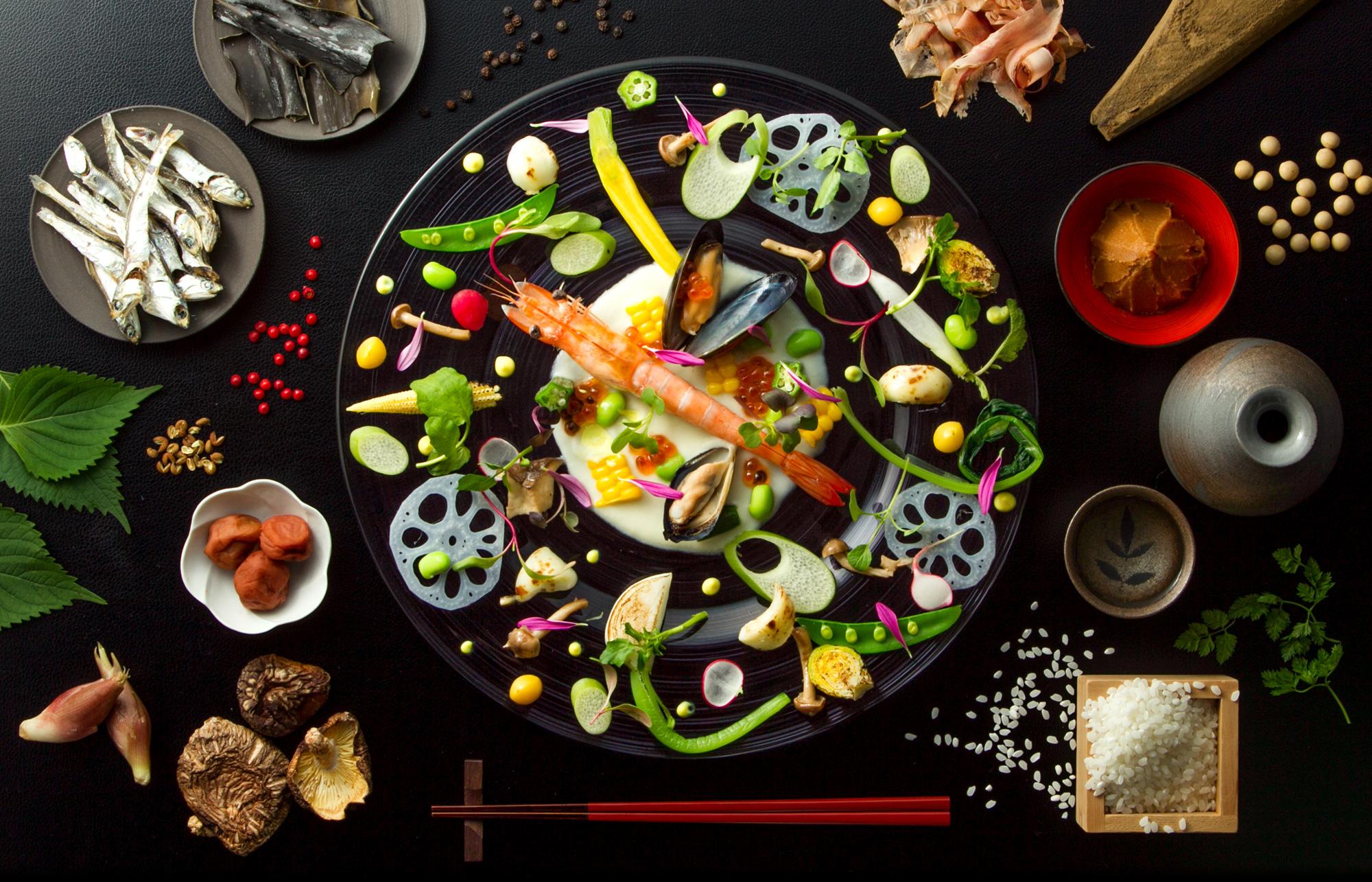 見た目から楽しむ 彩り豊かなフレンチ<br>お箸で食べる「フレンチごはん 西麻布GINA(ジーナ)」